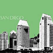 San Diego Skyline 2 - Apple Art Print