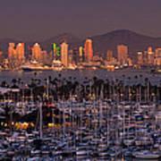 San Diego Skyline Art Print by Alexis Birkill