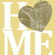 San Diego Street Map Home Heart - San Diego California Road Map  Art Print