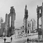 San Francisco After Earth Quake 1906 Art Print