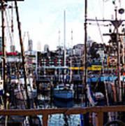 San Francisco Behind The Masts Art Print