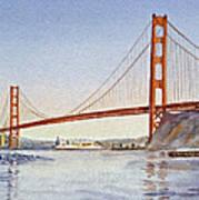 San Francisco California Golden Gate Bridge Art Print