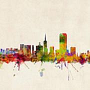 San Francisco City Skyline Art Print
