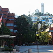San Francisco Coit Tower At Levis Plaza 5d26186 Art Print by Wingsdomain Art and Photography