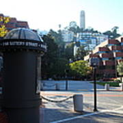 San Francisco Coit Tower At Levis Plaza 5d26213 Print by Wingsdomain Art and Photography