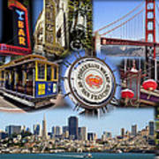 San Francisco Collage Art Print