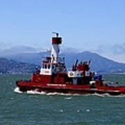 San Francisco Fire Department Fire Boat Art Print