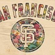 San Francisco Giants Logo Vintage Art Print