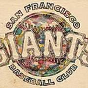 San Francisco Giants Poster Vintage Art Print