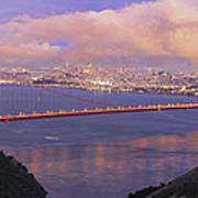 San Francisco Golden Gate Bridge At Dusk Art Print