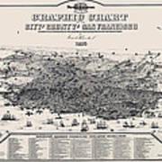 San Francisco Graphic Map 1875 Art Print