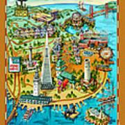San Francisco Illustrated Map Art Print