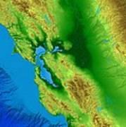 San Francisco Map Art Art Print