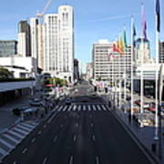 San Francisco Moscone Center And Skyline - 5d20513 Art Print by Wingsdomain Art and Photography