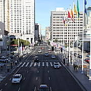 San Francisco Moscone Center And Skyline - 5d20515 Art Print by Wingsdomain Art and Photography