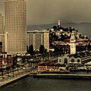 San Francisco Pier From The Bridge Art Print
