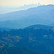 San Francisco Skyline From Mount Tamalpias-california Art Print