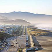 San Francisco Morning - The Great Highway Ocean Beach Art Print