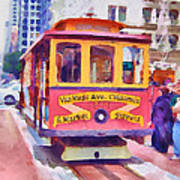 San Francisco Trams 7 Art Print