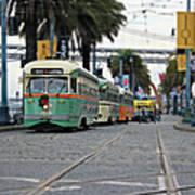 San Francisco Trolleys Art Print