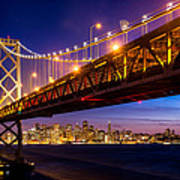 San Francisco - Under The Bay Bridge Art Print