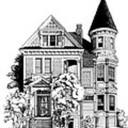 San Francisco Victorian Art Print by Mary Palmer