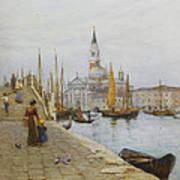 San Giorgio Maggiore From The Zattere Art Print