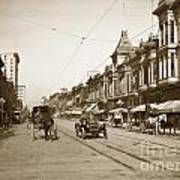94-095-0001 Early Knox Automobile First Street San Jose California Circa 1905 Art Print