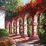San Juan Capistrano Mission Art Print