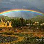 San Juan Mountains Rainbow Art Print