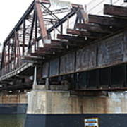 San Lorenzo River Train Bridge At Santa Cruz Beach Boardwalk California 5d23609 Art Print
