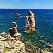 San Pietro Island - Le Colonne Cliff Art Print