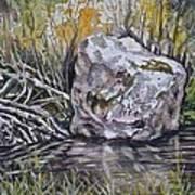 San Poil River Rock Art Print