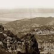 San Rafael From Mount Tamalpais California Circa 1905 Photo By Putnam- Valentine Art Print