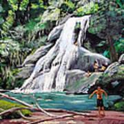 San Sebastian Waterfall Art Print