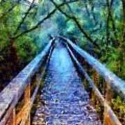 San Simeon Foot Bridge Art Print