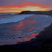 San Simeon Sunset Art Print