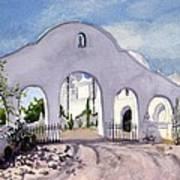 San Xavier Back Gate Art Print