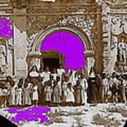 San Xavier Del Bac Church C.1885 Number 1  Tucson Arizona 1885-2008 Art Print