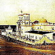 San Xavier Del Bac Mission As Seen From An Adjacent Hill C-1913-2013.  Art Print