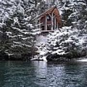 Sanctuary In Winter Art Print
