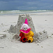 Sand Castle Jester Art Print by William Patrick