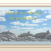 Sand Dolphins - Digitally Framed Art Print