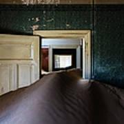 Sand Dune In Door Frame Of Abandoned Art Print