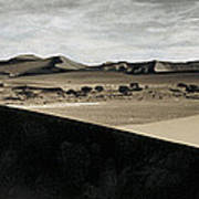 Sand Dunes In A Desert, Namib Desert Art Print