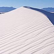 Sand Dunes In A Desert, White Sands Art Print