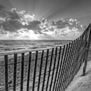 Sand Dunes In Black And White Art Print