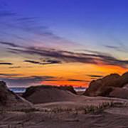 Sand Dunes Sunset Art Print