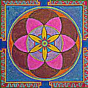 Sand Mandala Art Print