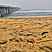 Sand On The Beach Art Print
